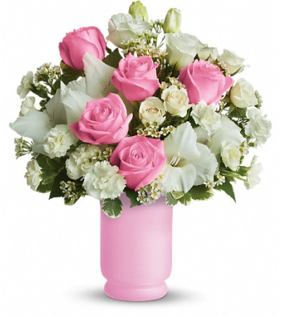 Teleflora's Pink and White Delight