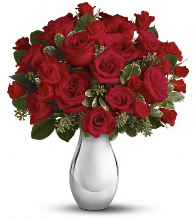 Teleflora's True Romance Bouquet with Red Roses