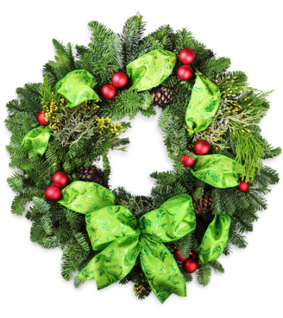 Home For The Holidays Wreath Sioux Falls Sd Florist