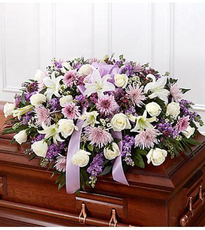 Lavender Half Casket Cover