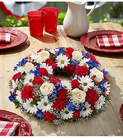 Red, White and Blue Centerpiece