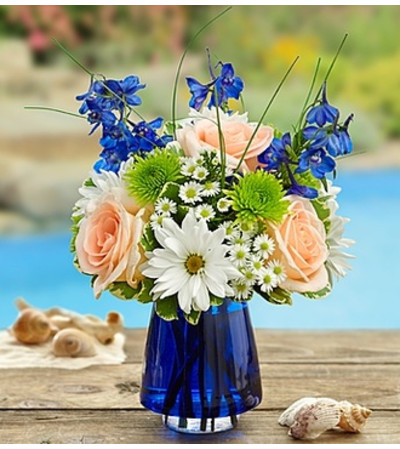 Summer Dunes™ in Blue Cobalt Vase