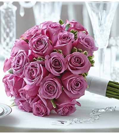 Purple Elegance Rose Bouquet