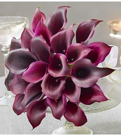 Purple Elegance Mini Calla Lily Bouquet