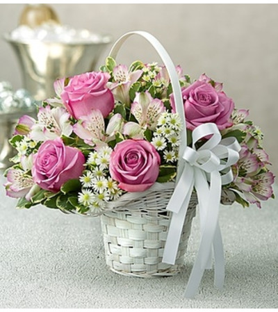 Purple Elegance Flower Girl Arrangement