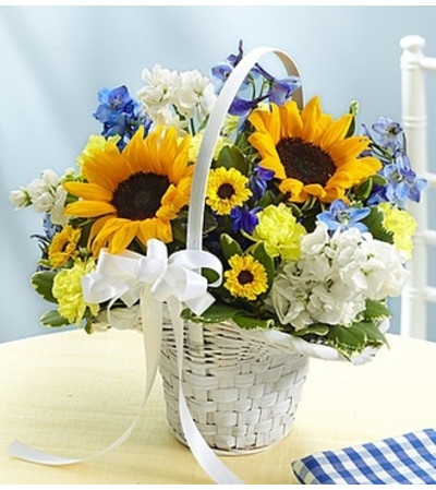 Country Wedding Flower Girl Arrangement