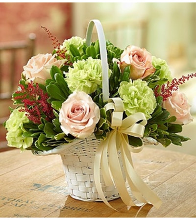 Vineyard Wedding Flower Girl Arrangement
