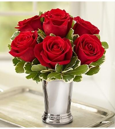 Julep Cup Rose Arrangement - Red