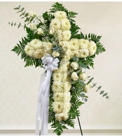 White Cross with White Rose Break