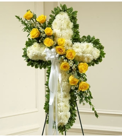 White Cross with Yellow Rose Break