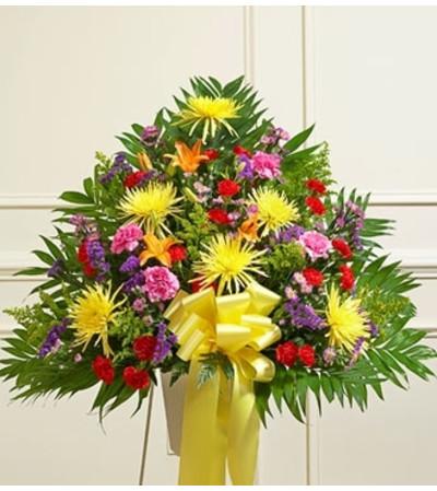 Bright Sympathy Standing Basket