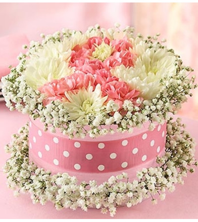 Fresh Flower Cake™ Pink Ribbon