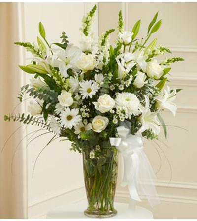 Beautiful Blessings Vase Arrangement - White