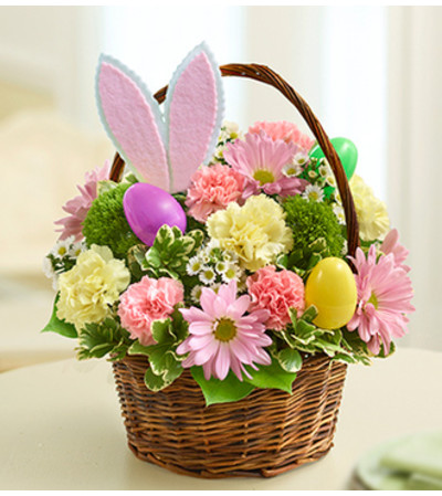 Easter Egg Basket with Bunny Ears