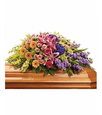 sweet memories casket spray