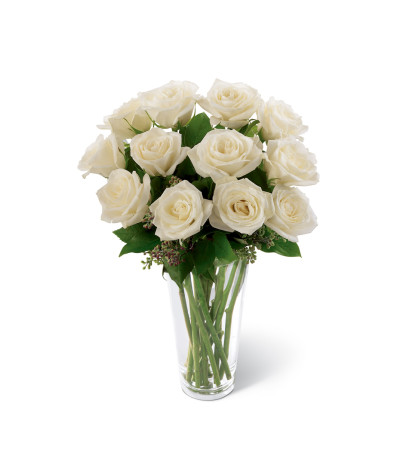 The FTD® White Rose Sympathy Bouquet