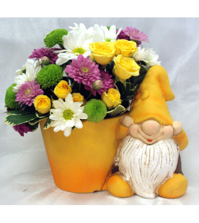 Garden Gnome Yellow