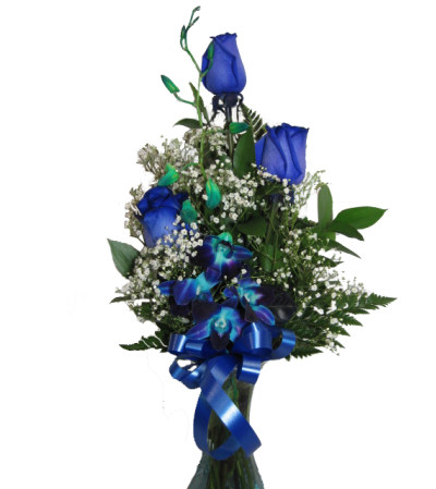 Blue without you Rose bouquet