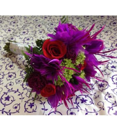 Popping Purple Bridal Bouquet