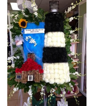Funeral Custom Lighthouse Sympathy Piece