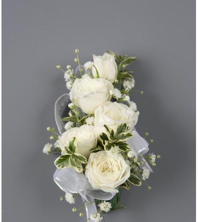 White Rose Wrist Corsage