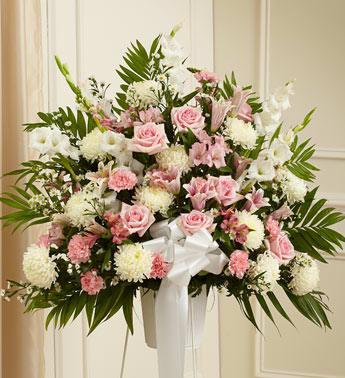 Pink & White Basket