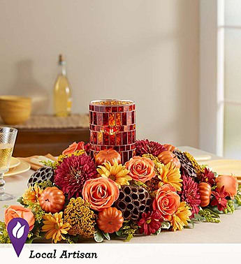 Harvest Centerpiece Pumpkin