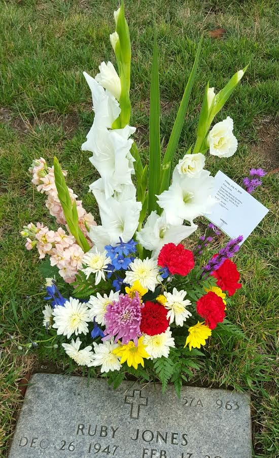 Flower Show Gravesite Arrangement