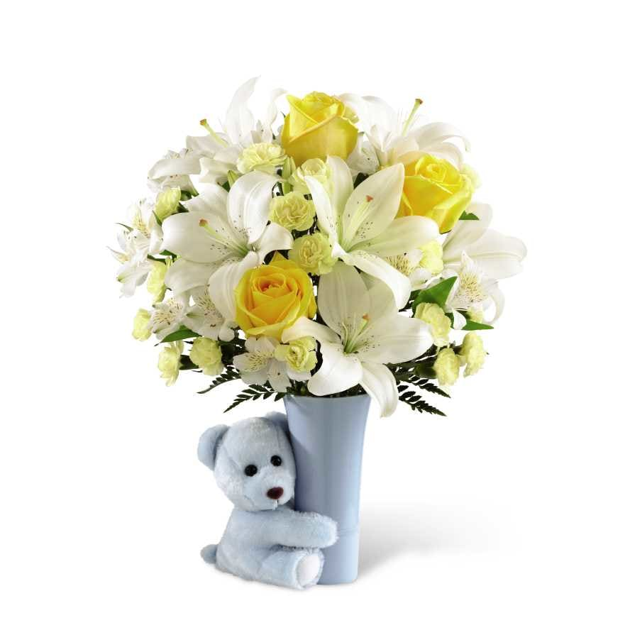 The Baby Boy Big Hug® Bouquet by FTD® - VASE INCLUDED