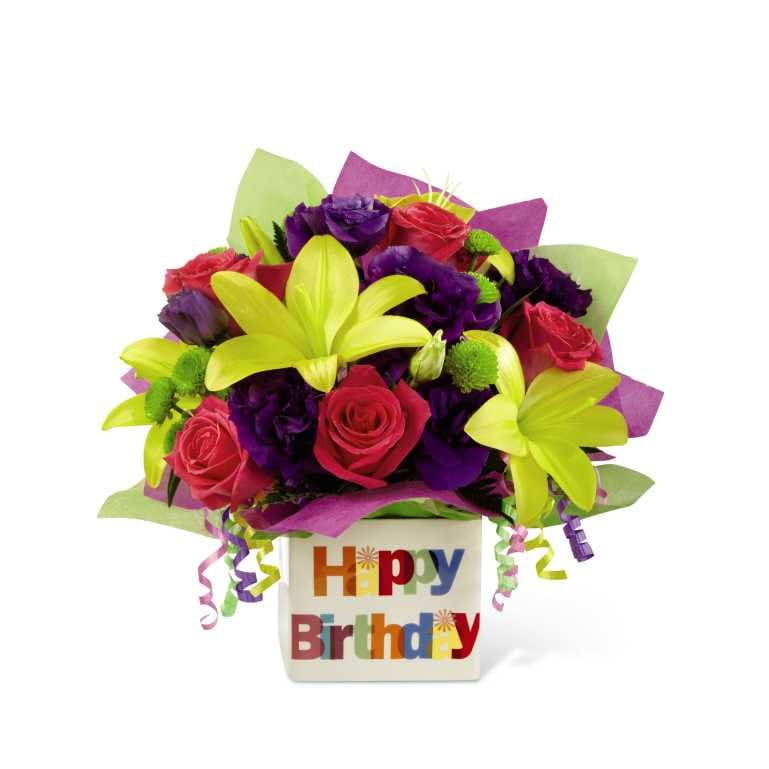 The Happy Birthday Bouquet by FTD® - VASE INCLUDED