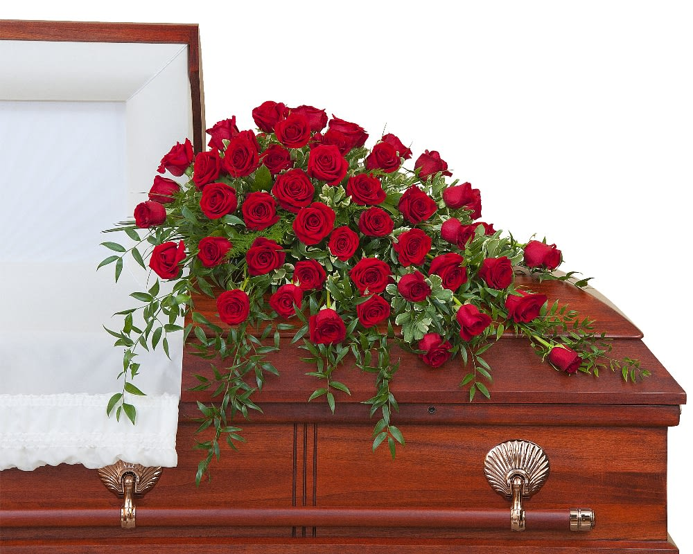Simply Roses Supreme Casket Spray