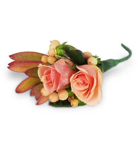 Classic Elegance Rose Boutonniere