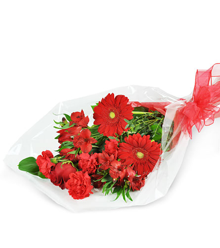 Red Romance, Wrapped Bouquet