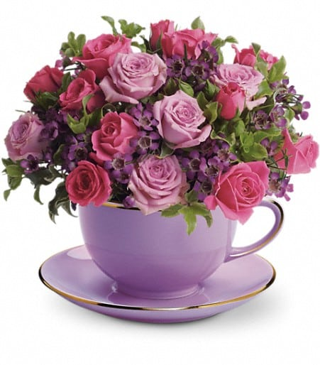 Teleflora's Cup of Roses Bouquet
