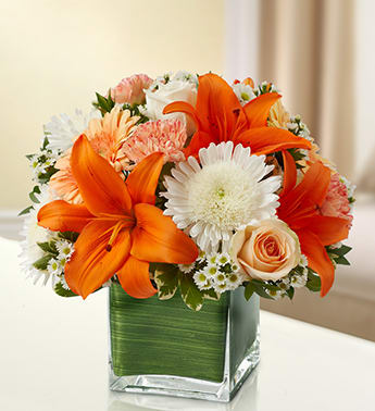 Healing Tears - Peach, Orange and White