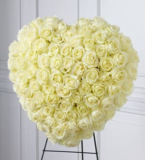 The FTD® Elegant Remembrance Standing Heart
