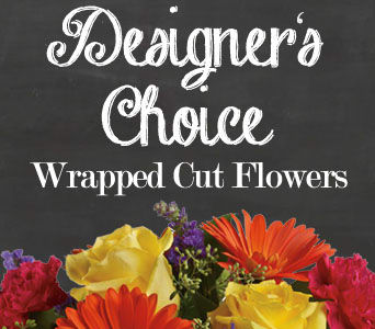 Designers Choice Wrapped Flowers