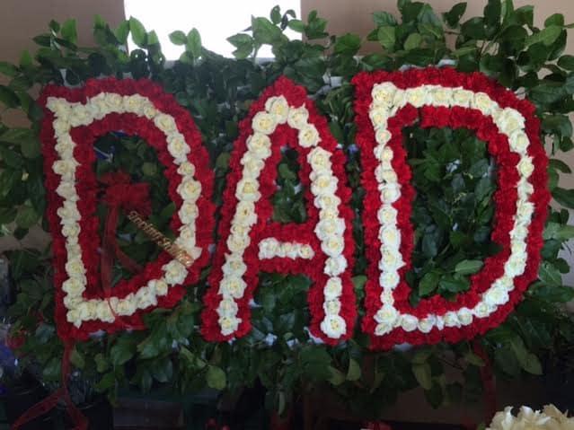 Funeral Custom Dad Sympathy Piece
