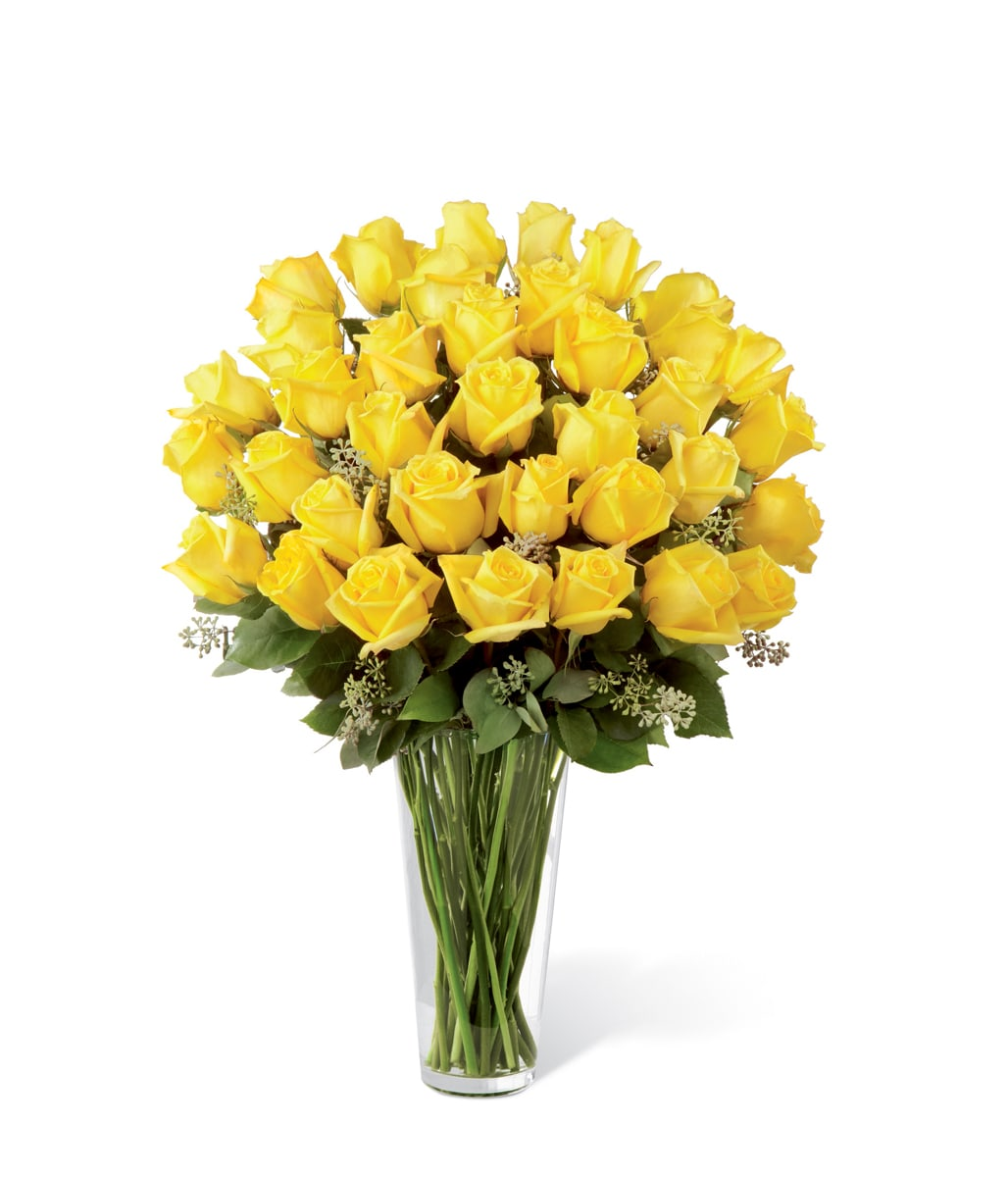 The FTD® Yellow Rose Bouquet - Exquisite