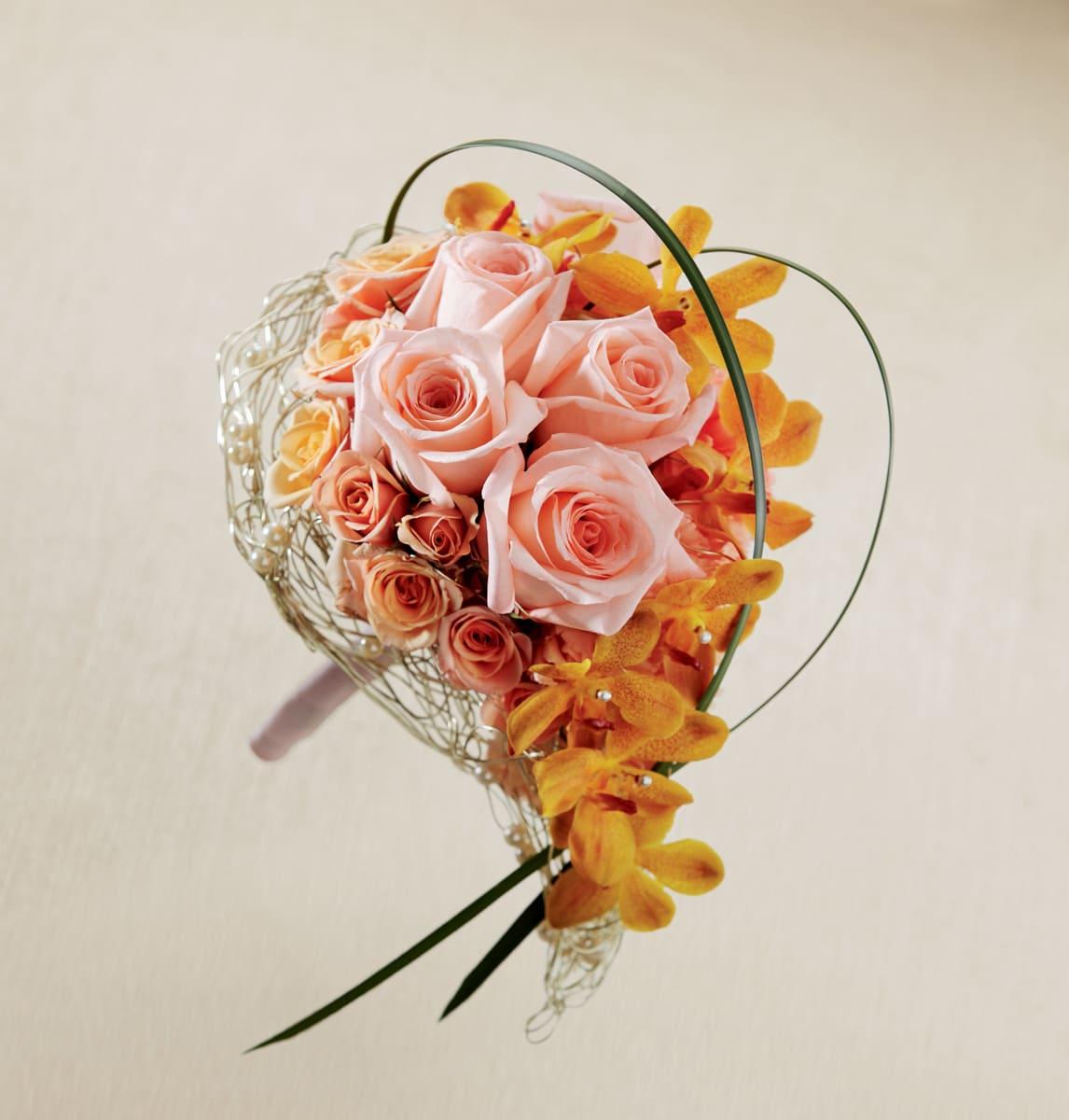 The FTD® Peach Waterfall™ Bouquet
