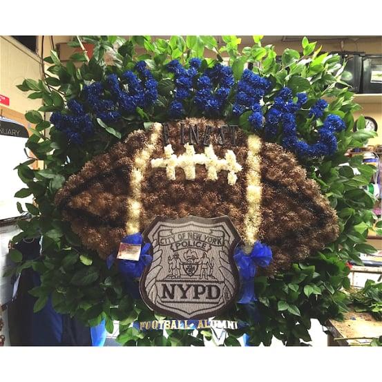 Funeral Custom Football Sympathy Piece