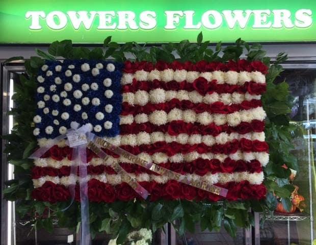 Funeral Custom American Flag Piece