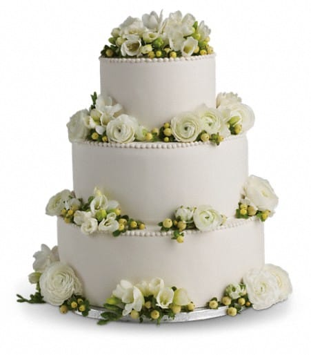 Freesia and Ranunculus Cake Decoration