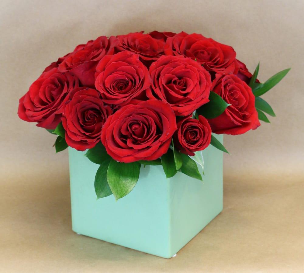 The Little Red Rose Vase