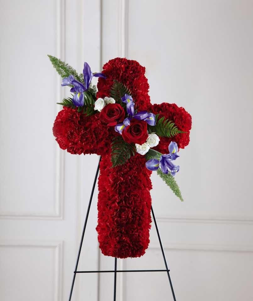 The FTD® Living Cross™ Easel - Red