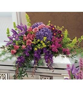 Lavender & Purple Casket Cover