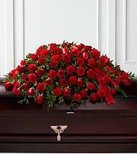 dearly departed casket spray