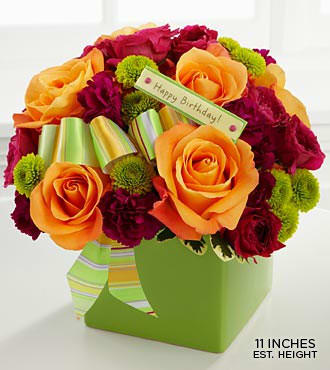 FTD The Birthday Bouquet Vase Include