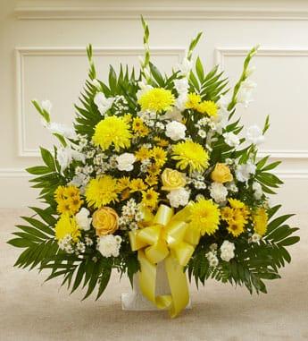 Heartfelt Tribute Floor Basket Arrangeme