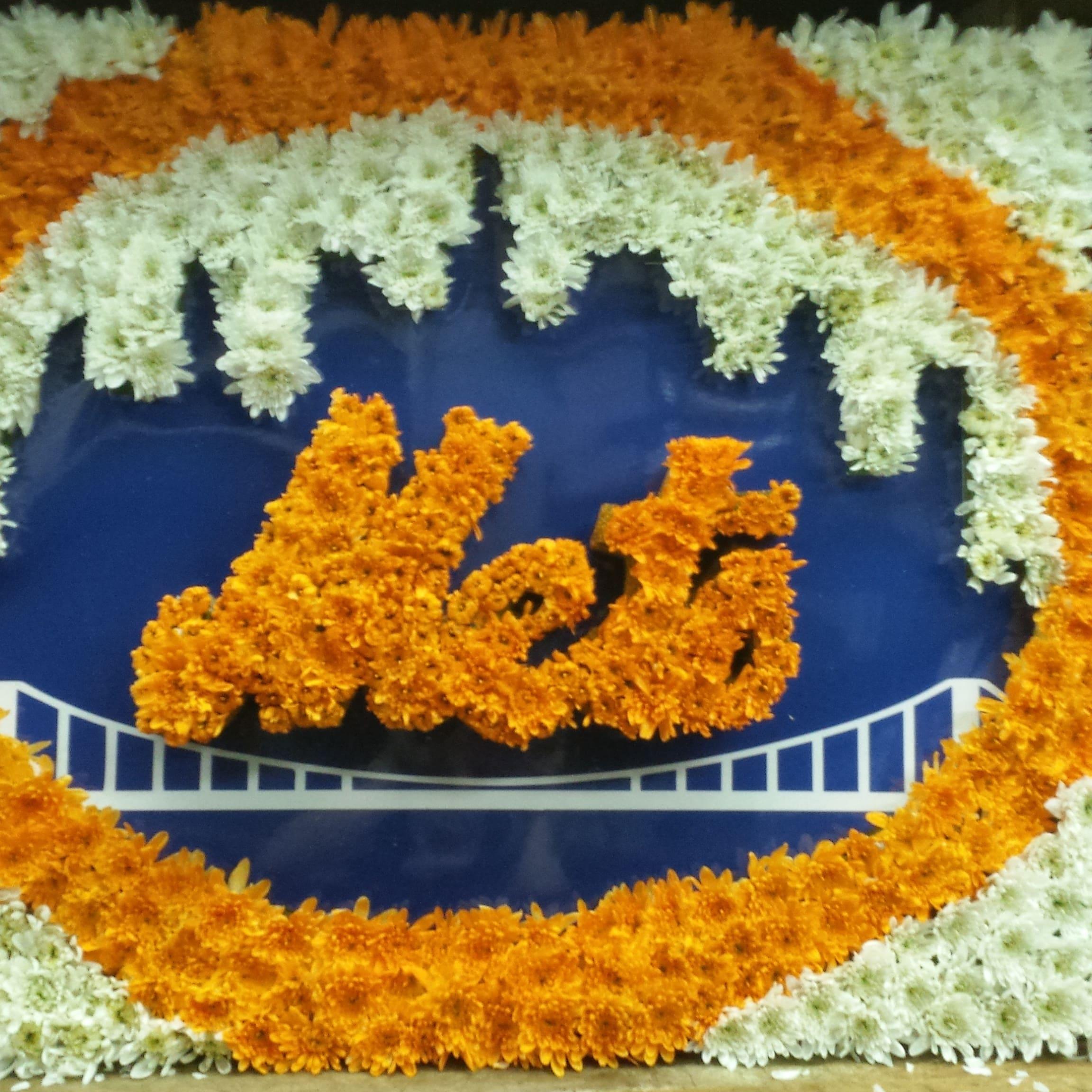 Custom Mets Logo Funeral Stand
